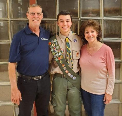 Jake Ishman and his parents
