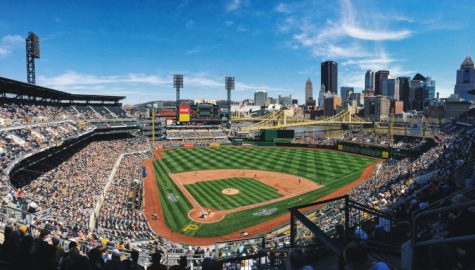 View from press box of PNC Park, home of the Pittsburgh Pirates