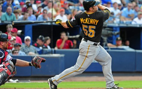 Michael McKenry hits a home run in Atlanta in 2011