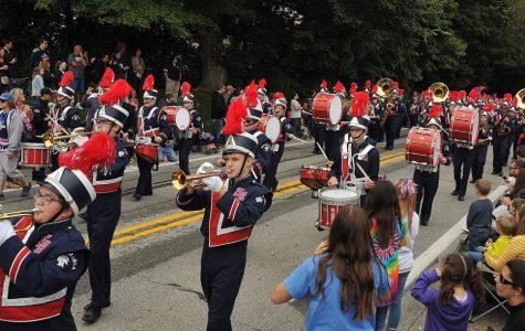 Shaler Area Marching Band at 2018 Homecoming Parade