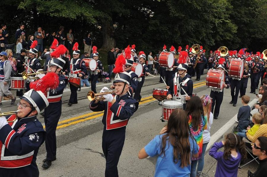 Shaler Area Marching Band at 2018 Homecoming Parade