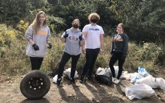 Shaler Area high school students help with collection and removal of trash