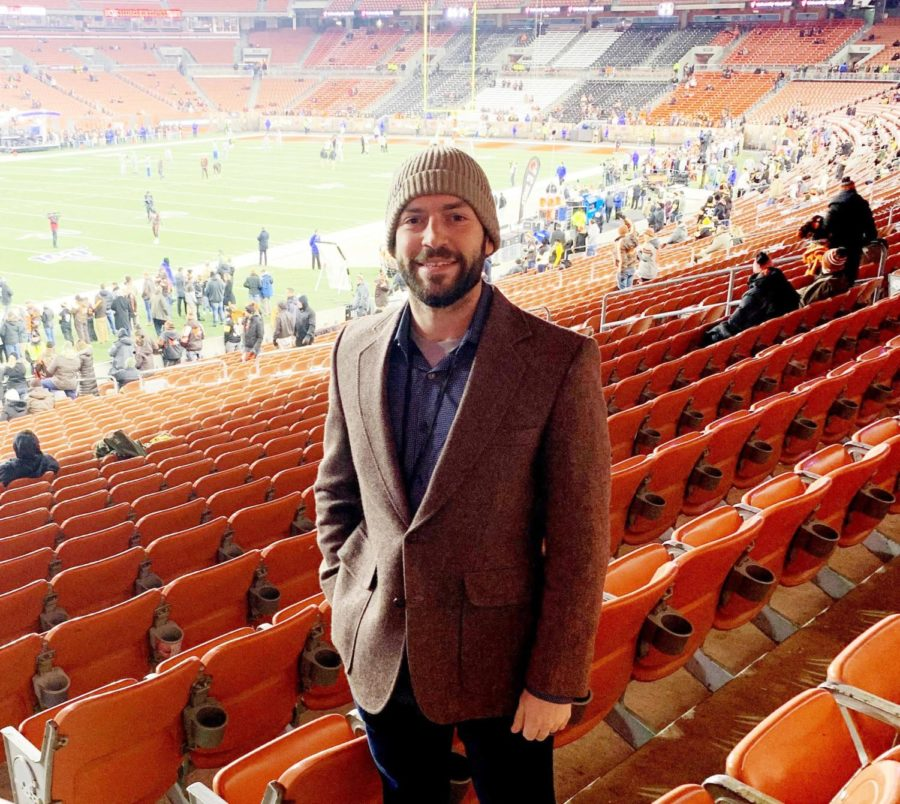 Brian Batko in Cleveland before the Steelers Browns game in 2019.