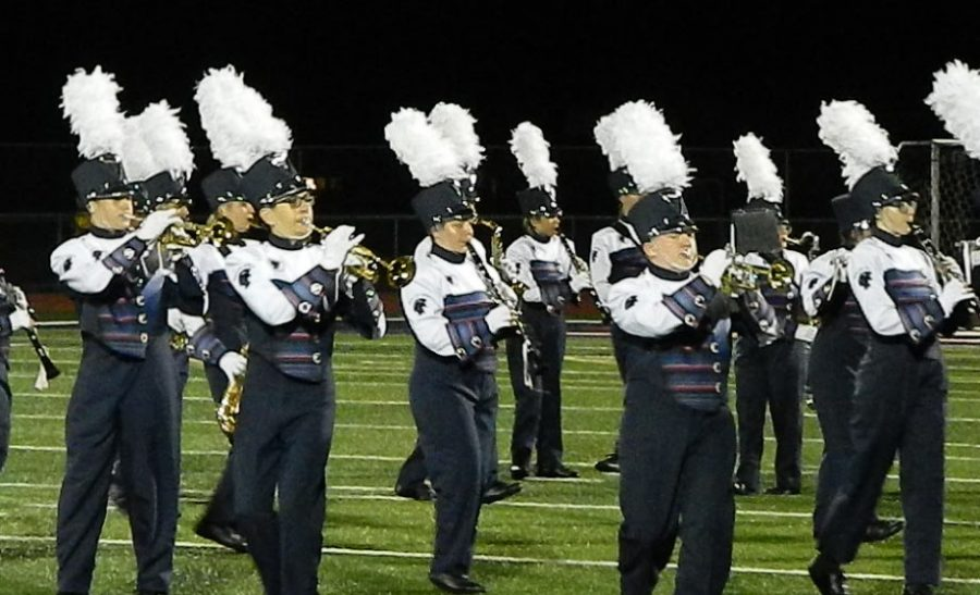 Shaler Area marching band performs at the Allegheny Valley Band Festival